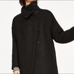 Zara High Neck Collar Long Wool Coat!!! NEW!